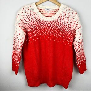 Madewell Drift Stitch Sweater in Persimmon